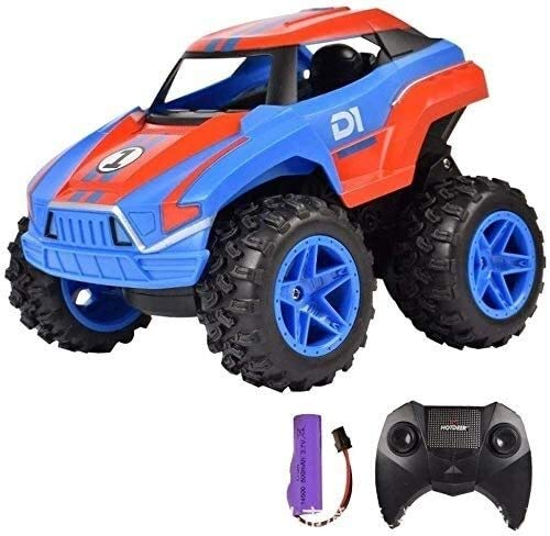 BCK 1:20 Control remoto STUNT Coche Rollover Rollover Control Remoto Coche 6+ Niños Off-Road Drift Escalada Toy Toy Coche Regalo para Niños Adultos Andales para niños Niños Cumpleaños (Color: Azul)