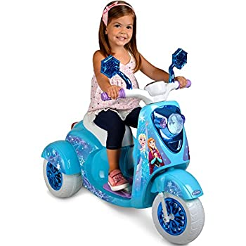 Frozen 6V Electric Powered Ride on Scooter for Girls Blue