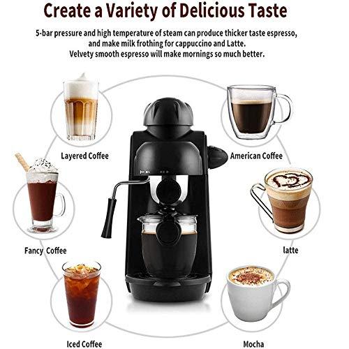QINQIN Mini House Kaffeemaschine Halbautomatische Kaffeemaschine Latte Und Cappuccino Aufschäumen Dampfpumpe 240Ml
