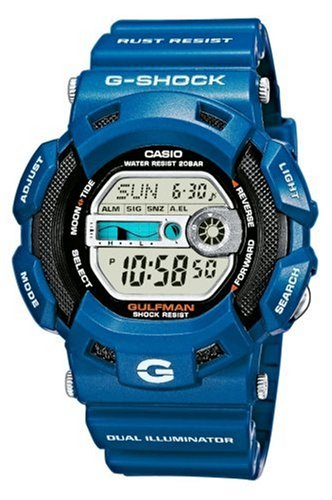 Casio G-9100-2ER - Reloj de caballero de cuarzo con correa de resina azul