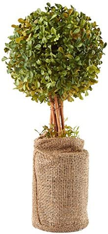 Factory Direct Craft Artificial Boxwood Burlap depot Base Topiary Dallas Mall in f
