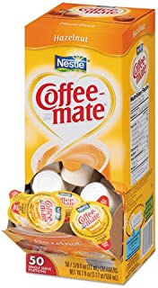 Coffee-mate 35180BX Hazelnut Creamer, .375oz, 50/Box