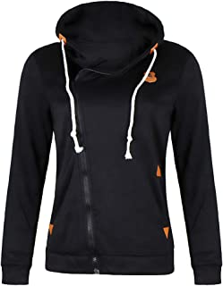 Ti caring Womens Casual Zipper Coat Cotton Fashion Oversize Hoodie Loose Long Sleeve Jacket Sweatshirt