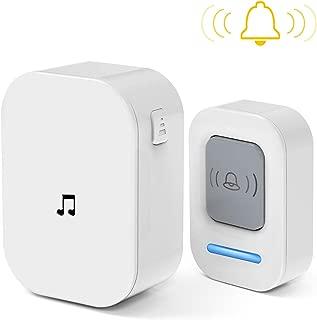 Doorbell, Wireless Doorbell Door Bell Wireless Doorbell for Classroom Home Doorbell Chime Button - Easy Install, 60 Melodies, 5 Volume Levels & LED Flash