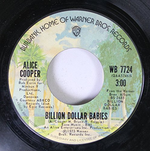ALICE COOPER 45 RPM BILLION DOLLAR BABIES / MARY ANN