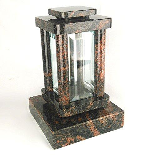 designgrab moderne Lampe Funéraire avec socle en granit Aurora/Aruba/aurindi/indora, pierre tombale Set