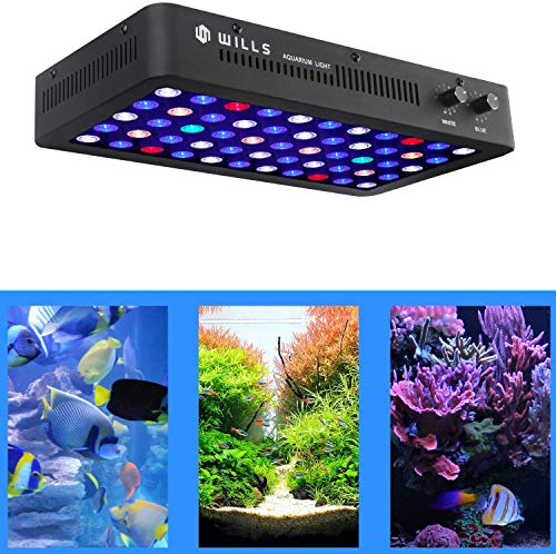 WillsLed Newest 165W LED Aquarium Light Full Spectrum Dimmable Lighting Lamp for Coral Reef Fish Tank Freshwater & Saltwater