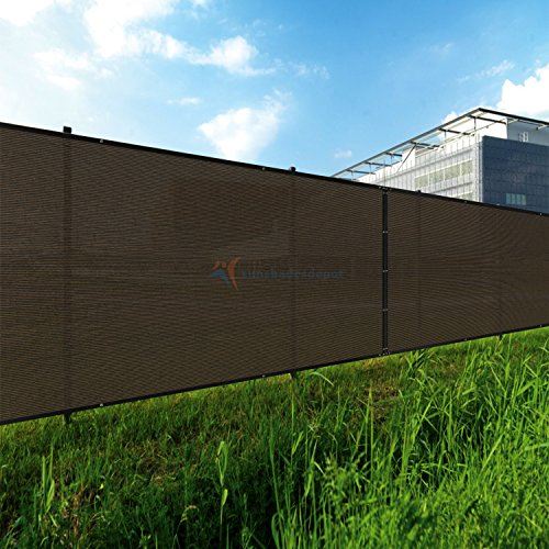 TANG Sunshades Depot 5'FTx50'FT Brown Privacy Fence Screen Temporary Windscreen Park Tennis Court School Home 150 GSM Heavy Netting Fence Cover 88% Privacy Blockage Excellent Airflow 3 Years Warranty