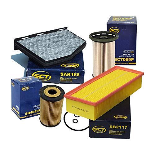 MANN Luftfilter Ölfilter Innenraumfilter Filter Set C-Klasse E-Klasse GLK CDI .