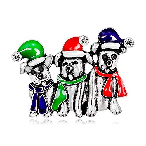 Love May Navidad Niedlich Perros Tipo Broche Regalo Lote de Pin para...