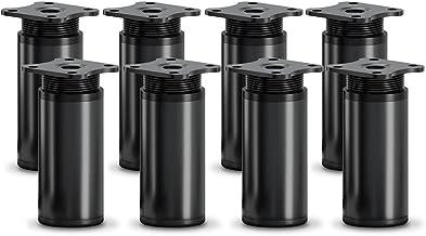 sossai® design meubelpoten MFR1 | set van 8 | in hoogte verstelbaar | Rond profiel: 40 x 40 mm | Kleur: zwart mat | Hoogt...