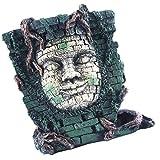 HEMOTON Pecera de Resina Retrato Romano Acuario Tanque de Peces Ruinas Plantas Decoración para Decoración de Acuario Ornamentos