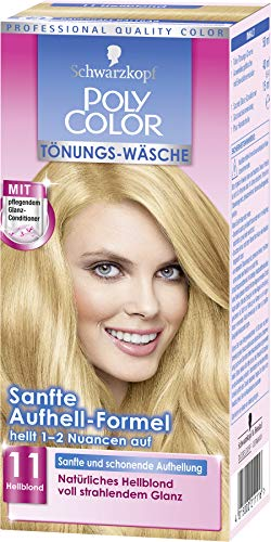 SCHWARZKOPF POLY COLOR Toenungs-Waesche, Haarfarbe 11 Hellblond Stufe 2, 3er Pack (3 x 105 ml)