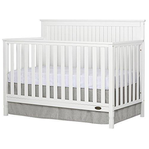 Dream On Me Alexa 5 in 1 Convertible Crib, White
