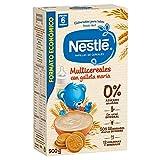 Nestlé - Multicereales con galleta María - Papilla de cereales instantánea de fácil disolución 500 gr - Pack de 3 (Total 1500 grams)