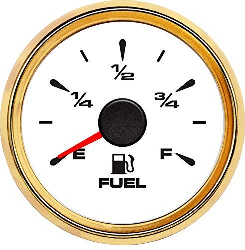 no-branded Kraftstoffanzeige 52MM Auto Kraftstoff Anzeiger Marine Fuel Gauges Wasserdicht Auto Level Meter for Auto-Motorrad CGFEUR (Color : White Gold, Size : Kostenlos)