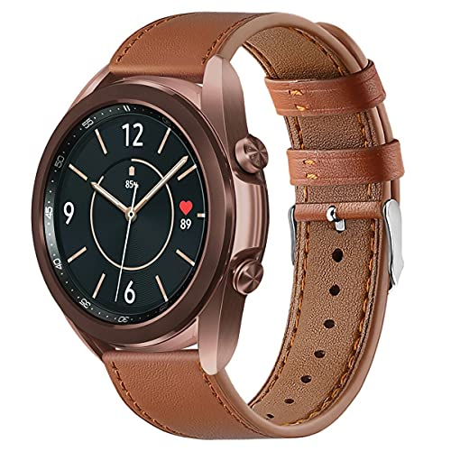 Pulseras de piel para Samsung Galaxy Watch Active 2/Galaxy Watch 46 mm/Huawei Watch GT2 42 mm/Garmin Vivvoactive 3 Music GPS/Vivomove 3S pulsera para hombre y mujer,