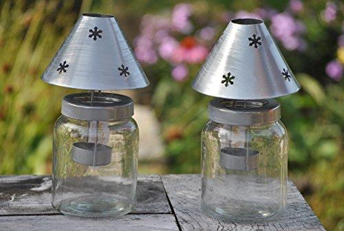 Windlicht,Teelichtglas,Countryfield,21cm hoch,2er Set