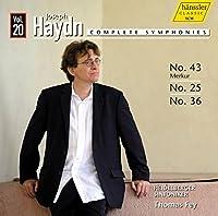 ハイドン : 交響曲全集 Vol.20 ~ 交響曲 第43番 「マーキュリー」 他 (Joseph Haydn : Complete Symphonies Vol.20 ~ No.43 Merkur , No.25 , No.36 / Thomas Fey , Heidelberger Sinfoniker) [輸入盤]