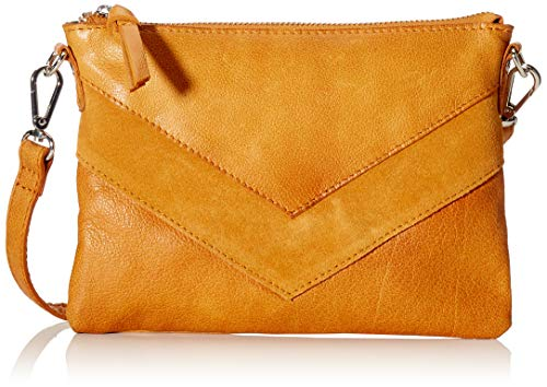 Stukken Pcingrid Lederen Cross Body vrouwen Cross-Body Bag, Bruin (Cognac), 1x15x22 Centimeters (B x H x T)