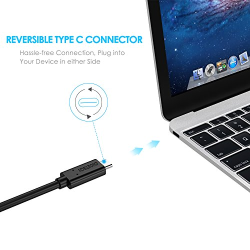 CHOETECH USB-IF Certified 10Gbps USB C to USB C Cable (3.3ft) USB 3.1 Gen 2 Type-C Cable [with E-Marker & Power Delivery] Compatible with 2018/2017 MacBook Pro/MacBook, Google Pixel/Pixel XL