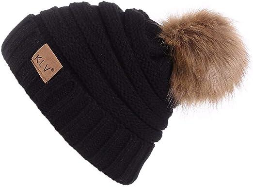 Herren Damen Warm Gestrickt Baggy Winter Mütze Ski Slouchy Stretch Fit Kappe