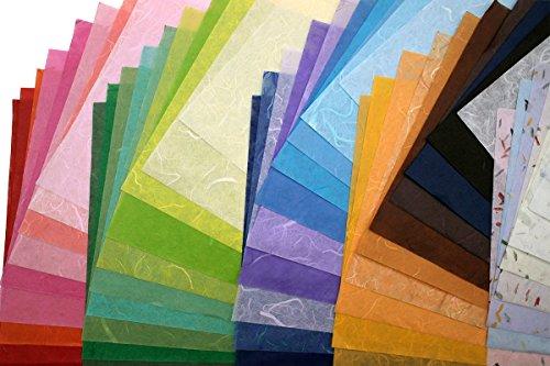 60 Papierbögen aus Maulbeerseide, handgefertigt, Kunstseide, japanisches Washi-Design, Basteln, Kunst, Origami-Lieferanten, Kartenherstellung