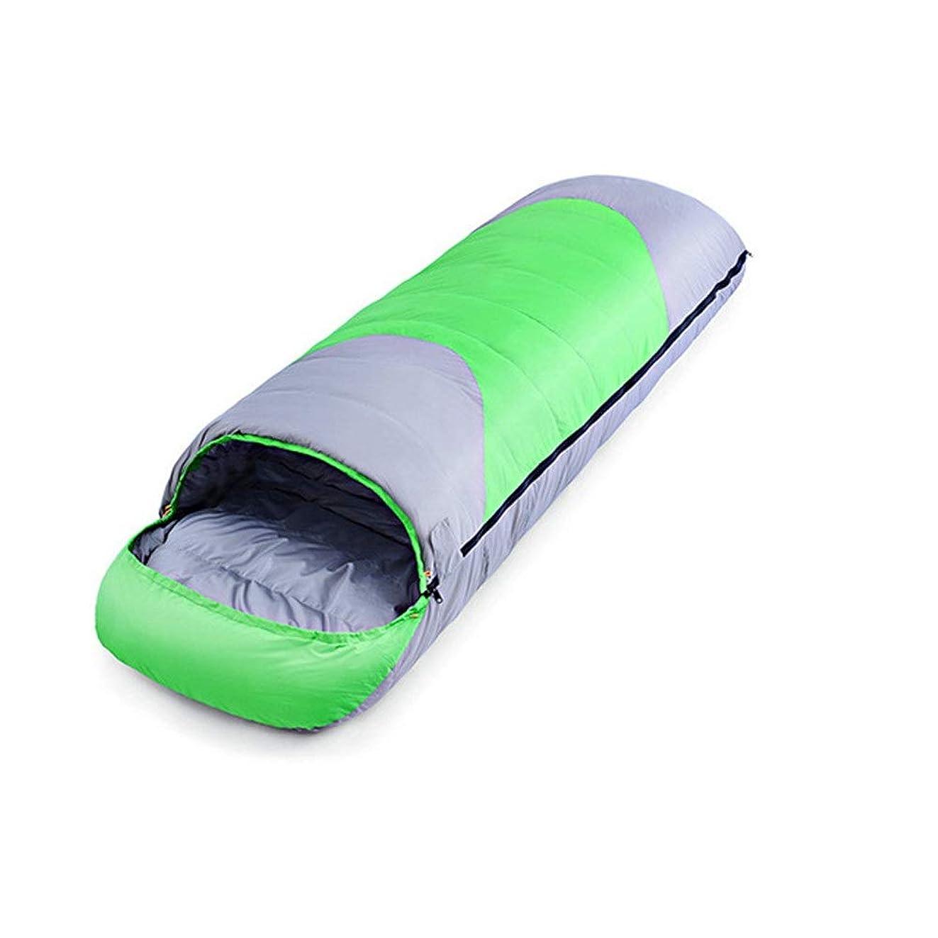 休戦統治する苗寝袋 シュラフ 封筒型 防水材質 軽量 ステッチ大人のバッグ特大暖かいスリーピングと光ステッチ封筒には、キャリングバッグ寝袋 オールシーズン (Color : Green, Size : 220x80cm)