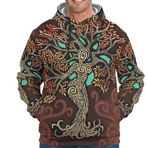 Dofeely Tree of Life 3D print jongens mannen hoodie sweatshirts casual comfortabel capuchon jack trui met zakken S-5XL beste cadeau voor kinderen