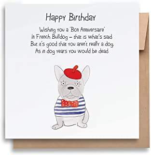 Dog Years Birthday Card |With Envelope |Funny Birthday Card |Dog Birthday Card |Humorous Greeting Card | Birthday Card for...