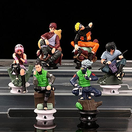 YDDM Anime Figurines Naruto 6 Rooms Hatake Kakashi Uchiha Sasuke Gaara Haruno Sakura Model Statue Anime PVC Toys Collectible Doll Toy Gift