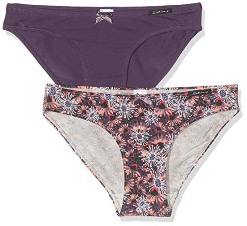 Skiny Mädchen Soft Garden Girls Rio Slip 2er Pack Unterhose, Mehrfarbig (Grapegarden Selection 2193), (Herstellergröße: 140)