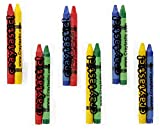 150 2-Packs of Premium Full-Size Crayons in Individual cellophane Wrapped Packs (Assorted: Red, Green, Blue, Yellow) Safety Tested Compliant with ASTM D-4236 (300 Total Crayons)