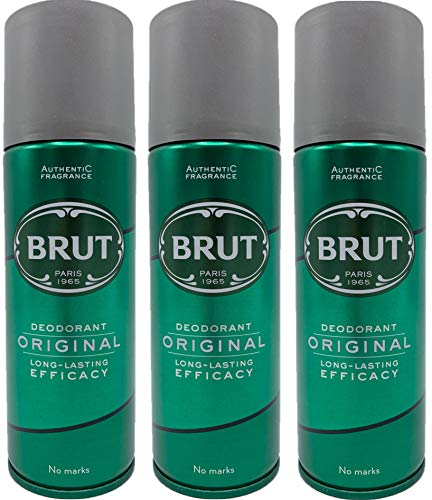 Brut 3 X Original Deodorant Body Spray 200Ml For Men Faberge