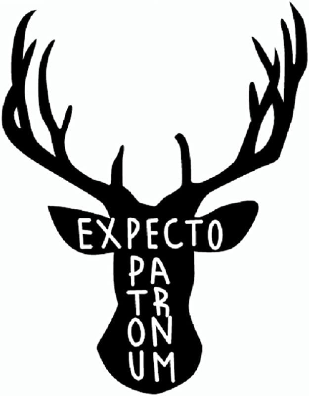 Winsome Faire Harry Potter Inspired Expecto Patronum Deer Vinyl Wall Decals Stickers Car Kids Room Home Decor 11 7x15cm
