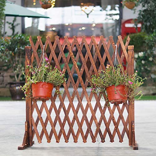 Garden fencing panels Fence Wooden Climbing Plant Helps Trellis Pet Nursery Fence Guardrail Outdoor Garden Fence Pet Fence Grid Expandable (Size : Height80cm)