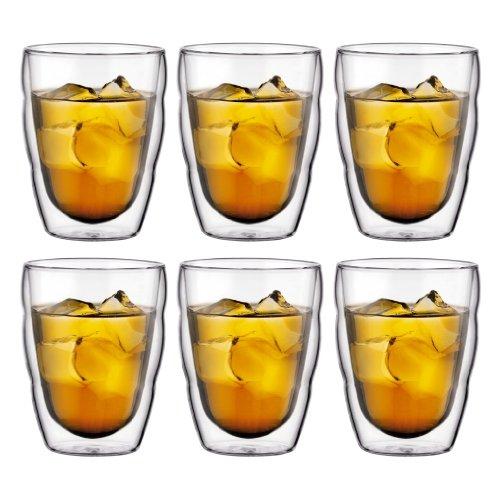 Bodum 10484-10-12 Pilatus Gläser, doppelwandig, 0,25 l Transparent, 6-teiliges