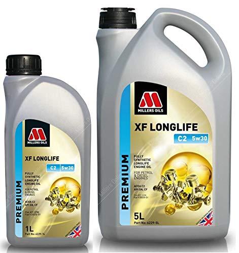 Millers Oils XF Longlife 5w30 C2 SN motorolie, 6 liter
