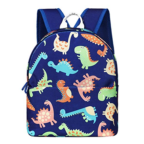 Kids Toddlers Cute Dinosaur Walking Safety Harness Backpack Baby Walker's Bag with Reins Belts Travel Racksack Cartoon Nursery School Bag Daypack for Baby Boys Girls for 1-7Years Old (Multi-Colour)