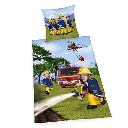 Beddengoed glad brandweerman Sam noodoproep 112 135 x 200 cm cadeau NIEUW Wow - All-In-One Outlet-24 -