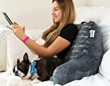 MYOOLOO Gratitude Reading Pillow Bed Wedge with Arms and Pockets Bolster Back Support Lumbar