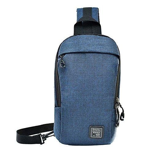 MiCoolker Sling Backpack Shoulder Chest Cross Body Bag Lightweight Casual Outdoor Sport Travel Hiking Bag Blue