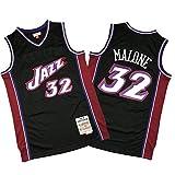CNMDG Karl Malone - Camiseta de baloncesto para hombre, 2021 Jazz 32#, edición conmemorativa, color negro, transpirable y cómodo, sudadera (S-XXL) XXL