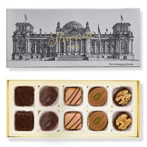 Sawade Pralinenschachtel - Motiv Reichstagsgebäude - 10 handgemachte Pralinen - hochwertige Pralinen aus der Berliner Manufaktur
