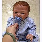 Minsong Lebensecht Reborn Babypuppe Weiche Silikon Vinyl 50cm 20 Zoll Wiedergeborene Baby Puppen,...