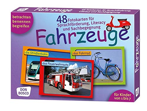 Fahrzeuge. 48 Fotokarten für Sprachförderung, Literacy und Sachbegegnung - 48 Fotokarten mit Begleitheft. Betrachten. Benennen. Begreifen. Für Kinder ... (Fotokarten für Sprachförderung und Literacy)