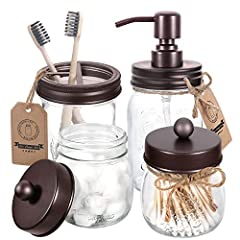 ★RUST PROOF STAINLESS STEEL SOAP DISPENSER - 16 oz regular mouth mason jar and stainless steel soap dispenser. Includes durable 304 stainless steel metal pump coupled with coated stainless steel lid preventing rust and corrosion for longevity. Be sui...