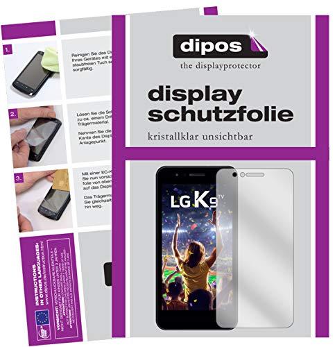 dipos I 2X Schutzfolie klar kompatibel mit LG K9 Folie Bildschirmschutzfolie
