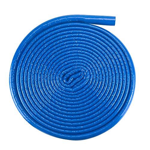 Isolierschlauch Isolierung Heizungsrohre Isolierfolie 15 mm / 4 mm Blau   Rohrisolierung Rohr Schaumstoff Rund Heizungsrohr PE PEX Fußbodenheizung Wasserleitung Zentralheizung