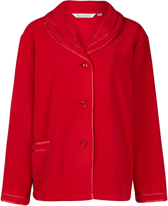 Slenderella Red 25  Long Sleeve Fleece Bedjacket BJ6320